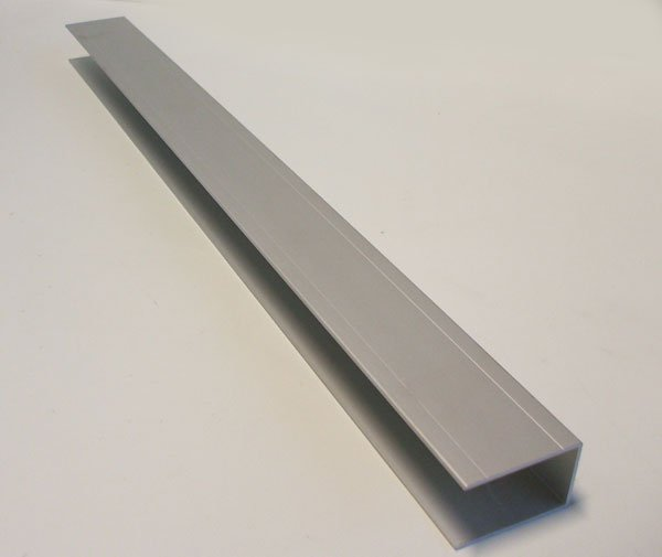 einfa profil alu eloxiert f r 30 mm alubordw nde ohne nase anh nger ersatzteile versand. Black Bedroom Furniture Sets. Home Design Ideas