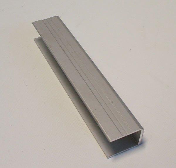 einfa profil alu eloxiert f r 25 mm alubordw nde ohne nase. Black Bedroom Furniture Sets. Home Design Ideas